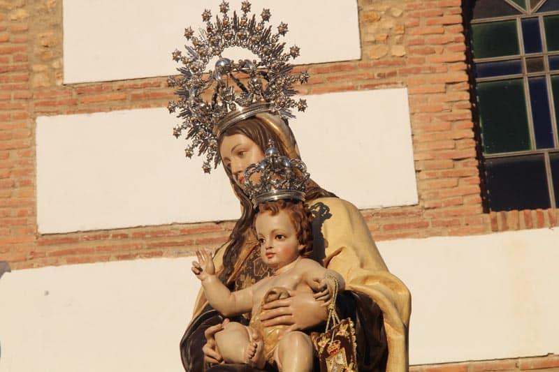 Virgen del Carmen, detalle