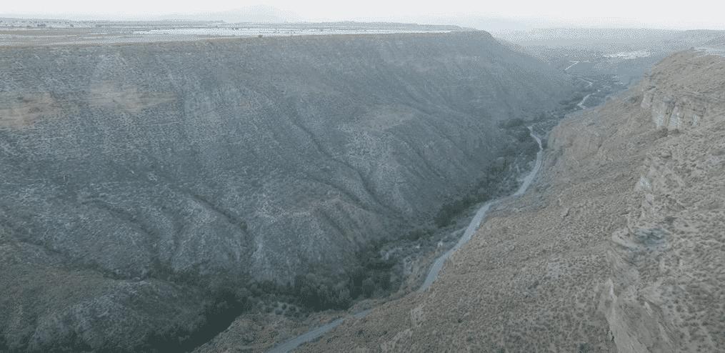 Cañón del rio Gor en el parque megalítico de gorafe