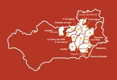Mapa de la IGP del Cordero Segureño